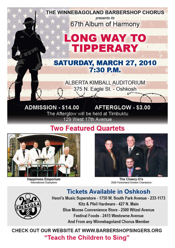 Long Way To Tipperary, presented by the Winnebagoland Barbershop Chorus